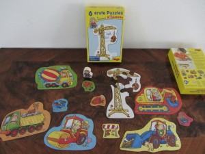 6 erste Puzzles - Baustelle